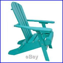 Outer Banks Value Line Poly Lumber Folding Adirondack Chair with Cupholder
