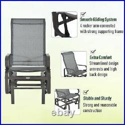 Outsunny Glider Swing Chair Seat Lounger Porch Rocker Outdoor Patio Garden
