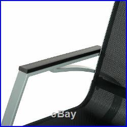 Outsunny Sling Porch Rocker Patio Chair Seat Deck Outdoor Backyard Rocker Metal