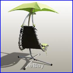 Outsunny Swing Chair Hanging Hammock Chaise Outdoor Stand Canopy Lounger Patio