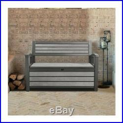 Panchina Cassapanca Baule in Resina Wpc Hudson Bench Keter Grafite K233781