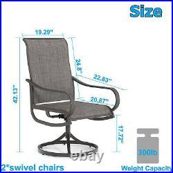 Patio Chair Set of 2 Metal Rocker Swivel Chair Outdoor Furniture for Garden Lawn