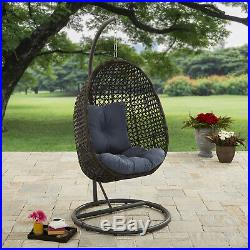 Patio Furniture Cushions Porch Swing Outdoor Wicker Hanging Chair with Stand