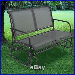 Patio Garden Glider 2 Person Swing Bench Rocking Chair Porch Outdoor Furniture