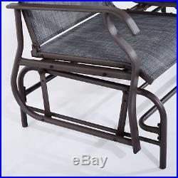 Patio Glider Rocking Chair Bench Loveseat 2 Person Rocker Deck Outdoor Furniture