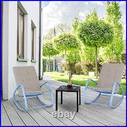 Patio Outdoor Rocking Chair With Cushion Reclining Chairs Porch Chairs Furniture