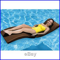 Pool Chaise Lounge Garden Patio Daybed Floating Folding Outdoor Lounger Rattan