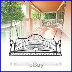 Porch Swing Bench Chair Patio Metal Hanging Seat Furniture Outdoor Deck Backyard