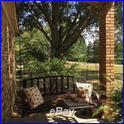 Porch Swing Patio Metal Hanging Seat Furniture Outdoor Deck Backyard Chair NEW