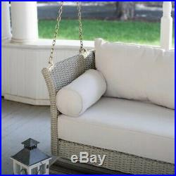 Porch Swing Resin Wicker Deep Seating Hanging Bed Outdoor Home Patio Furniture