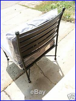 Pottery Barn Potrero outdoor oversized Sectional sofa Armless Iron black Chair