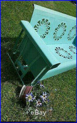Rare HTF Vintage Bunting Metal Front Porch Glider Swing Wedding Ring 1940s-1950s