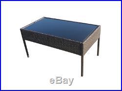 Rattan Balcony Furniture Patio Outdoor Chairs Bistro Cheap 4Pcs Wicker Sofa Set