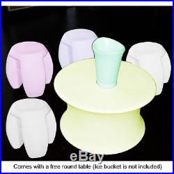 Remote LED Color Light Stool Outdoor Indoor Patio Party Chair Seat Promotion