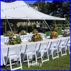 Resin Garden Plastic Folding Chair Indoor Outdoor Party Event Wedding Church