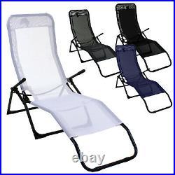 Rocker Lounger Sun Chair Recliner Outdoor Garden Furniture Folding Relaxing Seat