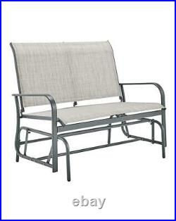Rocking Bench Outdoor Garden Lounger Seat Chair Furniture Patio Family Fun NEW