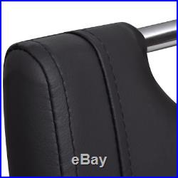 Set of 2 Cantilever Black Dining Chair Kitchen Seats Backrest Artificial Leather