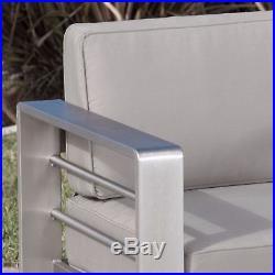 Soledad Khaki Fabric Outdoor Club Chair