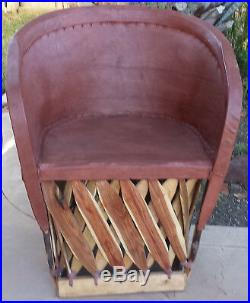 Standard Equipale Rustic Mexican Leather Back Chair