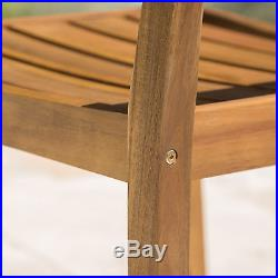 Stanyan Outdoor Teak Finish Acacia Wood Dining Chairs (Set of 2)