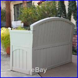 Suncast Ultimate 50-Gallon Resin Patio Storage Bench PB6700, Light Taupe, 52L