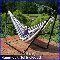 Sunnydaze Hammock Stand Steel with Black Finish Heavy-Duty Universal Multi-Use