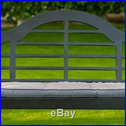 Swing Bed Porch Furniture Outdoor Seat Wooden Hanging Chair Wood Patio 2 Person