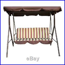 Swing Chair 3Person Steel Outdoor Patio Canopy Awning Porch Furniture Adjustable