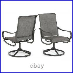 Swivel Patio Chairs set of 2 Outdoor Rocker Dining Chairs For Lawn Garden Yard