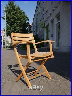 TRUE VINTAGE 60er Jahre KLAPPSTUHL Gartenstuhl Terrasse Wintergarten Buche chair