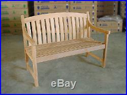 Teak Bench 48/120cm perfect for your dining table garden, outdoor, patio