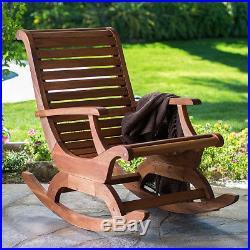 Teak Oiled Plantation Adirondack Outdoor Patio Deck Rocking Rocker Chair New