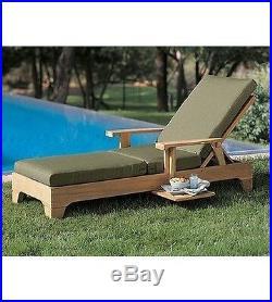 Teak Steamer Chaise Lounger Teak Outdoor Patio Furniture Caranas Deck Dining New