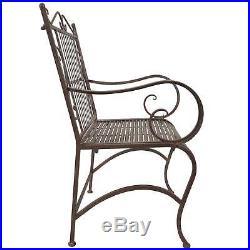 Titan Outdoor Antique Arm Chair Porch Patio Garden Deck Decor Rust Rustic Pair