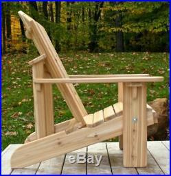 Two Classic Cedar Adirondack Chairs Handmade by Ozark Mountain Furniture