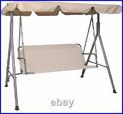 VILOBOS 3 Seater Patio Swing Chair Outdoor Canopy Lounge Hammock Garden Bench