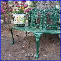 Victorian Tree Surround Garden Bench Vintage Replica Outdoor Furniture Green