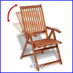 VidaXL 2x Acacia Wood Outdoor Dining Chair Home Kitchen Furniture Seat Dinner