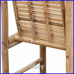 VidaXL 2x Bar Stool Bamboo Tropical Rustic Chair Kitchen Counter Dining Seat