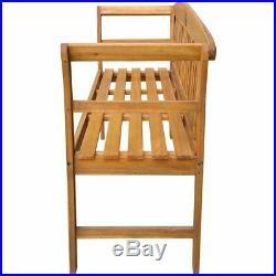 VidaXL Acacia Wooden Rose Garden Bench Outdoor Patio Deck Porch Chair Seat
