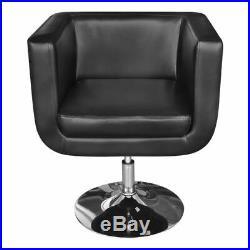 VidaXL Arm Chair with Chrome Base Black Adjustable Swivel Base Club Modern