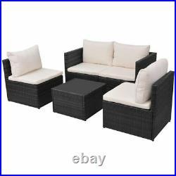 VidaXL Garden Sofa Set 13 Piece Poly Rattan Wicker Brown/Black Patio Furniture