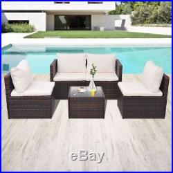 VidaXL Garden Sofa Set 13 Piece Poly Rattan Wicker Brown Outdoor Furniture