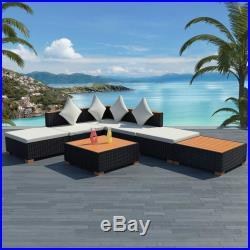 VidaXL Garden Sofa Set 16 Piece Wicker Poly Rattan WPC Outdoor Lounge Seat
