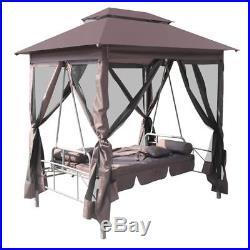 VidaXL Gazebo Swing Chair Coffee Garden Outdoor Patio Porch Seat Hammock Tent