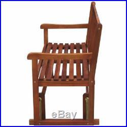 VidaXL Patio Acacia Wood Garden Glider Bench Porch Swing Chair Outdoor Seat