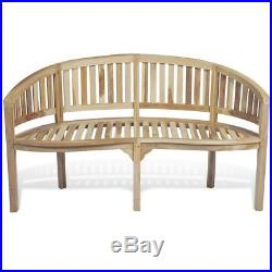 Fantastic Vidaxl Patio Garden Teak Curved Banana Wooden Bench Chair Ocoug Best Dining Table And Chair Ideas Images Ocougorg