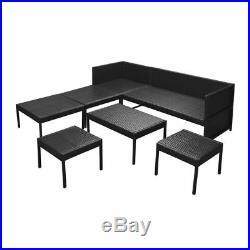 VidaXL Patio Outdoor Rattan Wicker Couch Sofa Garden Furniture Table 2 Colors
