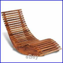 VidaXL Patio Outdoor Rocking Chair Acacia Wood Porch Rocker Garden Furniture